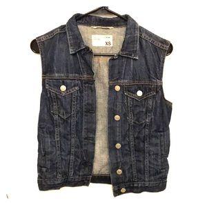 Rag & bone jean cropped denim vest